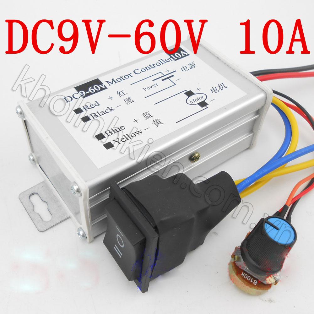 Bộ điều khiển tốc độ động cơ DC 9V-60V 10A (có đảo chiều)